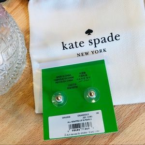 kate spade Jewelry - Kate Spade Bow & Pearl Earrings